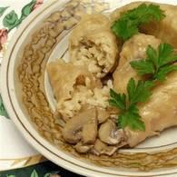 Голубцы с грибами и рисом