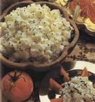 Вегетарианские салаты и приправы Алу нарьял райта