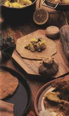 Мучные изделия - хлеб и лепешки Алу паратха