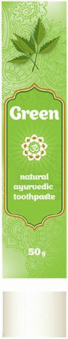 Аюрведа для зубов и десен Зубная паста Green, Аюрсиддха