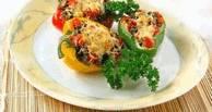 Перец, фаршированный грибами с сыром