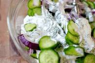 Салат огуречный