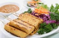 Овощи, тушёные с тофу