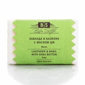 Лаванда-Базилик-Масло Ши Аюрведическое мыло