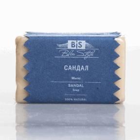 Мыло Сандал - роскошное 100% натуральное органическое мыло с пьянящим ароматом белого сандала.