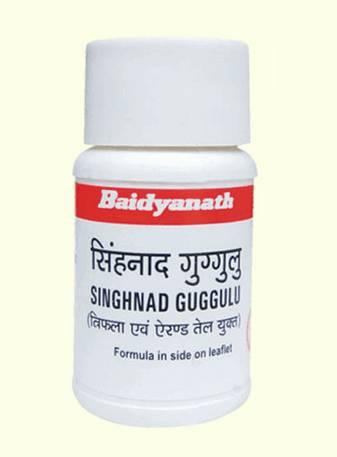 Аюрведа для желудка Сингхнади Гуггул (Синханади Гуггул) / Singhnad Guggul (Baidyanath) 80 таб