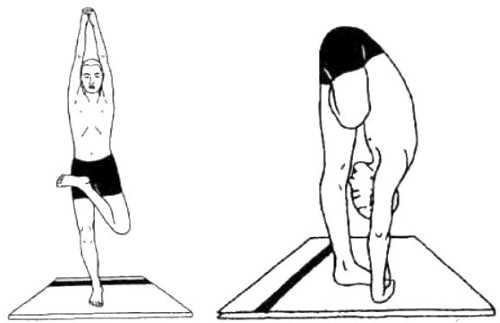 Ардха-баддха-падмоттанасана (поза полулотоса стоя на одной ноге)