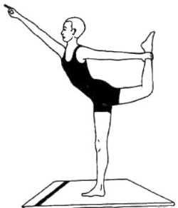 Натараджа-асана (поза Шивы [подготовительная форма])