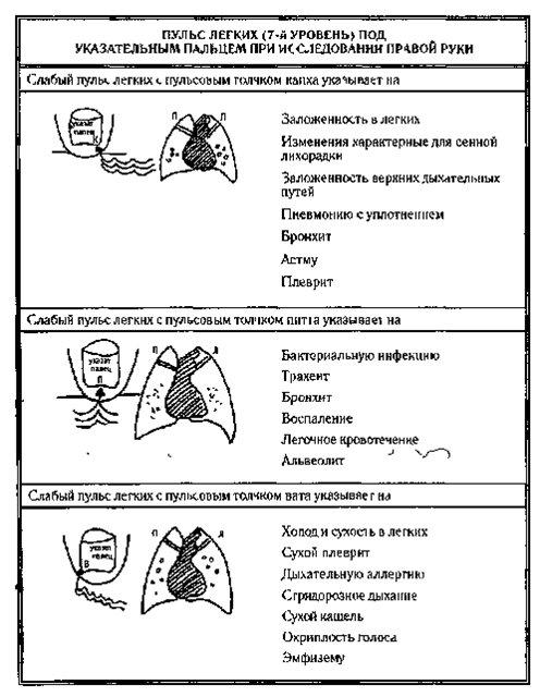 Легкие диагностика по пульсу