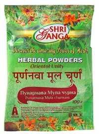 Аюрведа при простудных заболеваниях Пунарнавади порошок (Punarnava mool churna), 100 гр