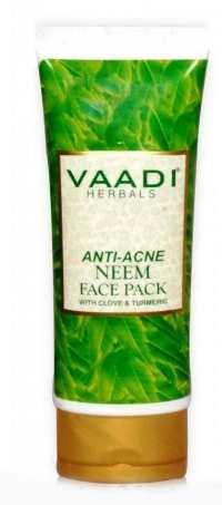 Маска против прыщей с ним и гвоздикой Ваади (Vaadi Anti Acne Neem Face Pack) 120 гр