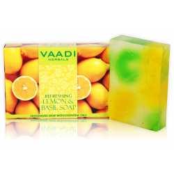 Мыло натуральное Освежающий лимон и базилик Ваади Vaadi REFRESHING LEMON AND BASIL SOAP 75 гр