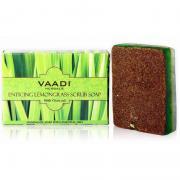 Мыло-скраб с Лимонной травой Ваади (Vaadi Enticing Lemongrass Scrub Soap) 75 гр