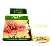 Крем для ног с маслом сандала и гвоздики Ваади (Vaadi Foot Cream Clove, Sandal Oil) 30 гр