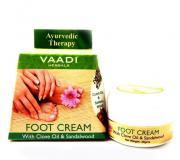 Крем для ног с маслом сандала и гвоздики Ваади (Vaadi Foot Cream Clove, Sandal Oil) 30 гр