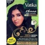 Хна Dabur Vatika Naturals д/окраски волос (черная). Упаковка: 6 пакетиков по 10 гр