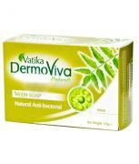 Мыло Дабур, Dabur Vatika Dermoviva Neem натуральное антибактериальное с нимом, 125 гр.