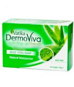 Мыло Дабур, Dabur Vatiкa DermoViva Naturals Алоэ Вера (натуральный увлажнитель), упаковка: 125 гр