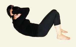 Йога для спины Упражнение на укрепление продольных мышц живота