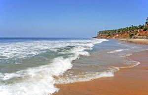 Йога в Индии, 22.01 - 1.02.2018, штат Керала, г. Варкала. Пляж Варкалы