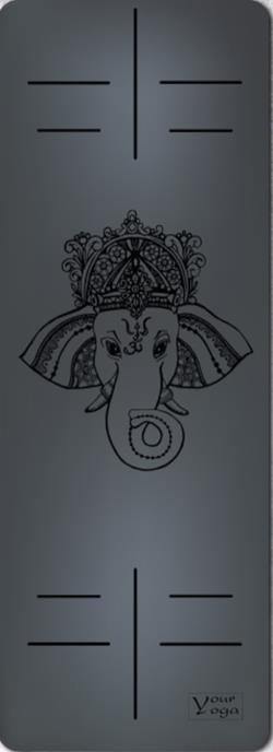Йога-коврики. Премиум коврик для йоги «Ganesha» Black
