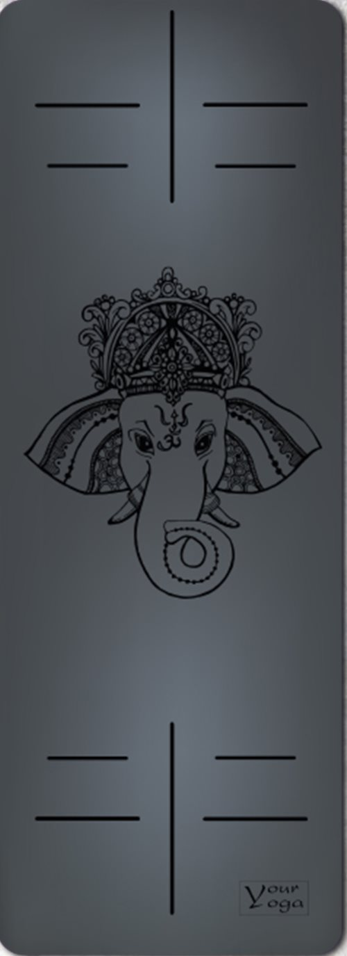 Премиум коврик для йоги Ganesha Black