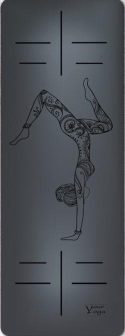 Коврики для Йоги. Премиум коврик для йоги «HandStand» black