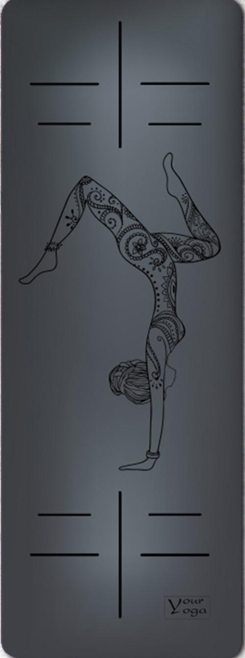 Премиум коврик для йоги HandStand black