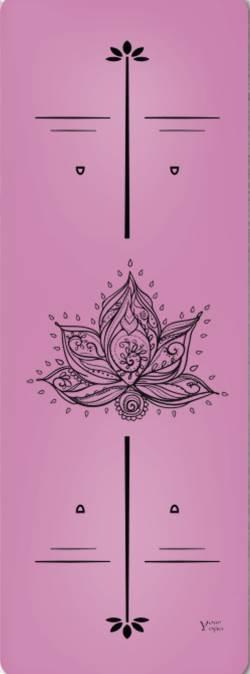 Йога-коврики. Премиум коврик для йоги «Lotus» Pink