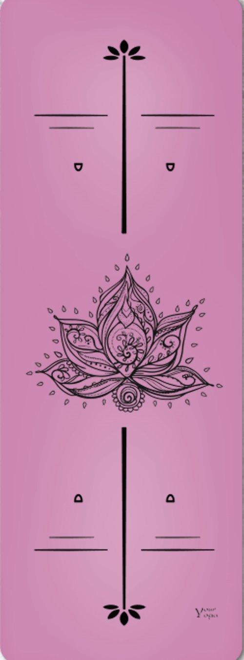 Премиум коврик для йоги Lotus Pink