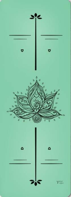 Йога-коврики. Премиум коврик для йоги «Lotus» green