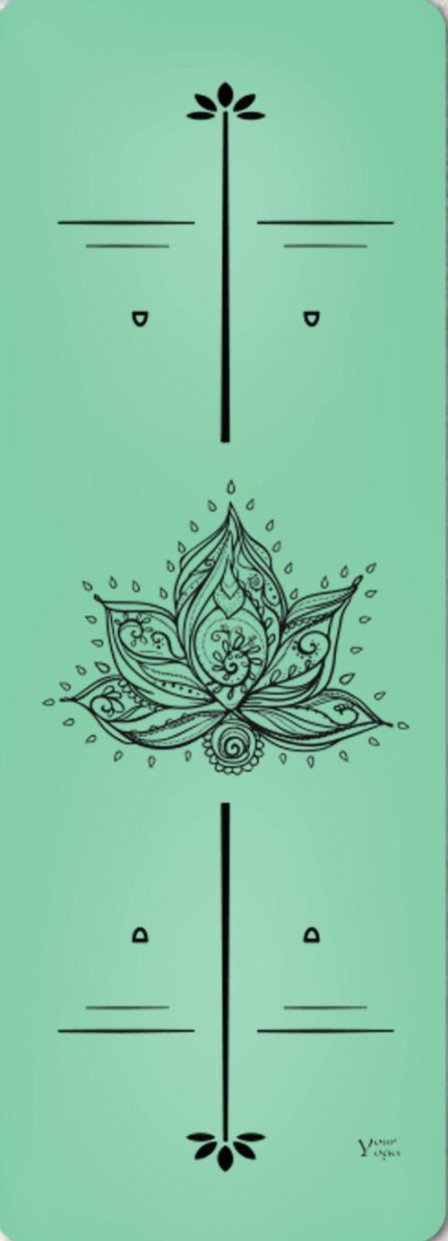 Премиум коврик для йоги «Lotus» green