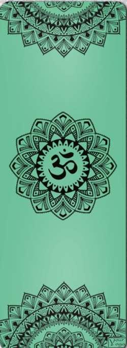 Коврики для Йоги. Премиум коврик для йоги «Mandala» green