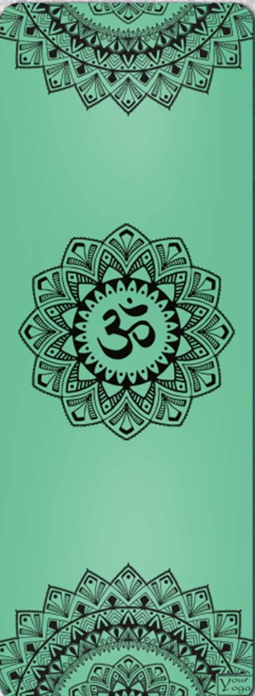 Премиум коврик для йоги Mandala green