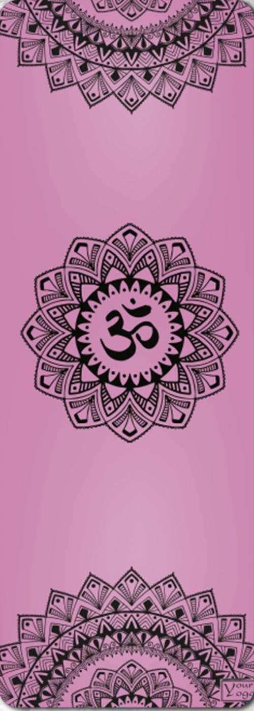 Премиум коврик для йоги Mandala pink