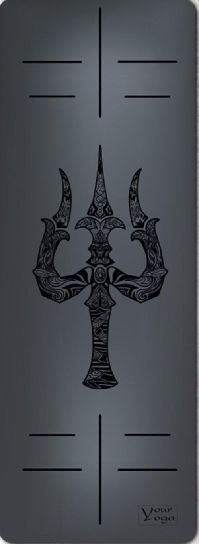Премиум коврик для йоги Trident black