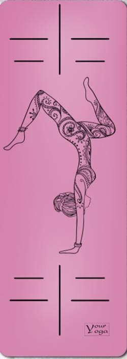 Йога-коврики. Премиум коврик для йоги «HandStand» pink