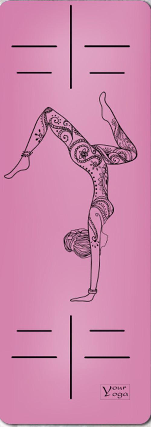 Премиум коврик для йоги «HandStand» pink
