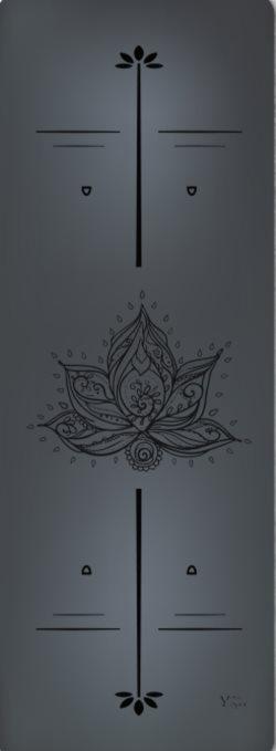 Коврики для Йоги. Премиум коврик для йоги Lotus Black
