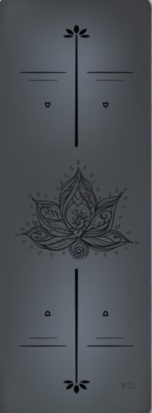 Премиум коврик для йоги Lotus Black