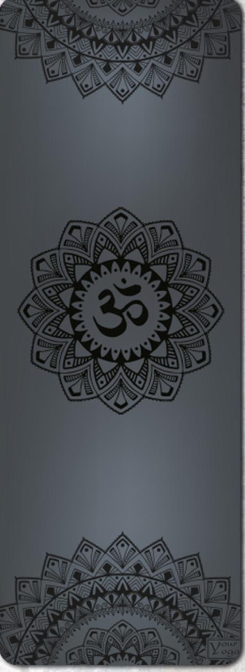 Премиум коврик для йоги Mandala black