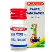 Правала панчамрита (Prawal Panchamrit), 25 таблеток (3,75 грамма)